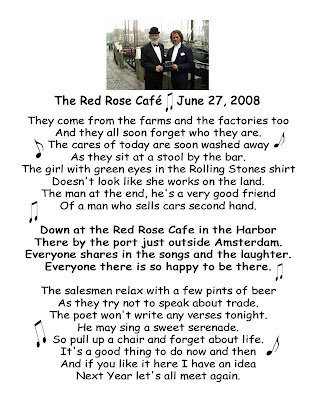 ANDRE RIEU FAN SITE THE HARMONY PARLOR: The Red Rose Café June 27. 2008 Lyrics