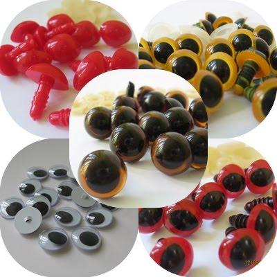 Amigurumi Göz Siyah Renk 10 Mm Vidalı - 100 Adet   400x400