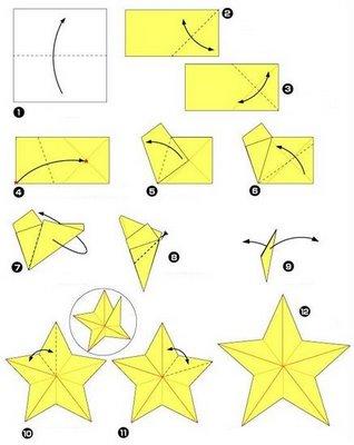 pintado de fresco rvore e estrela de natal em origami. Black Bedroom Furniture Sets. Home Design Ideas