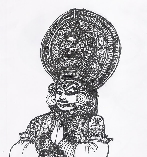 Pencil Yakshagana Face Drawing Bestpencildrawing