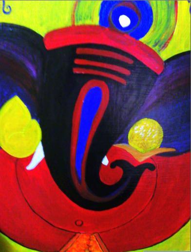 Varnaalaya: Acrylic Ganesha Paintings