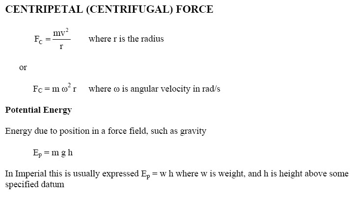 Centripetal(Centrifugal) force Potential Energy Equations ...