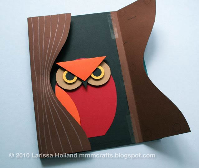 Mmmcrafts make 3d owl art for Things to make out of construction paper