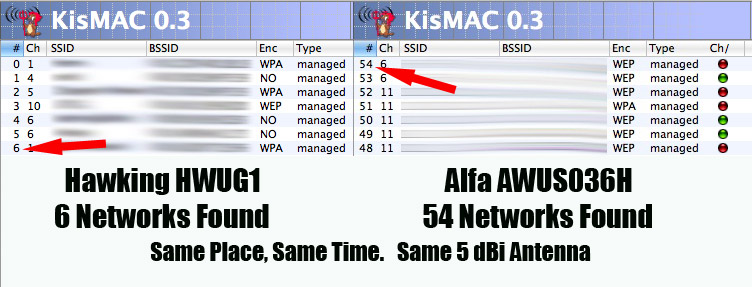 Kismaxx: Best WIFI card /Wlan KisMAC Compatible