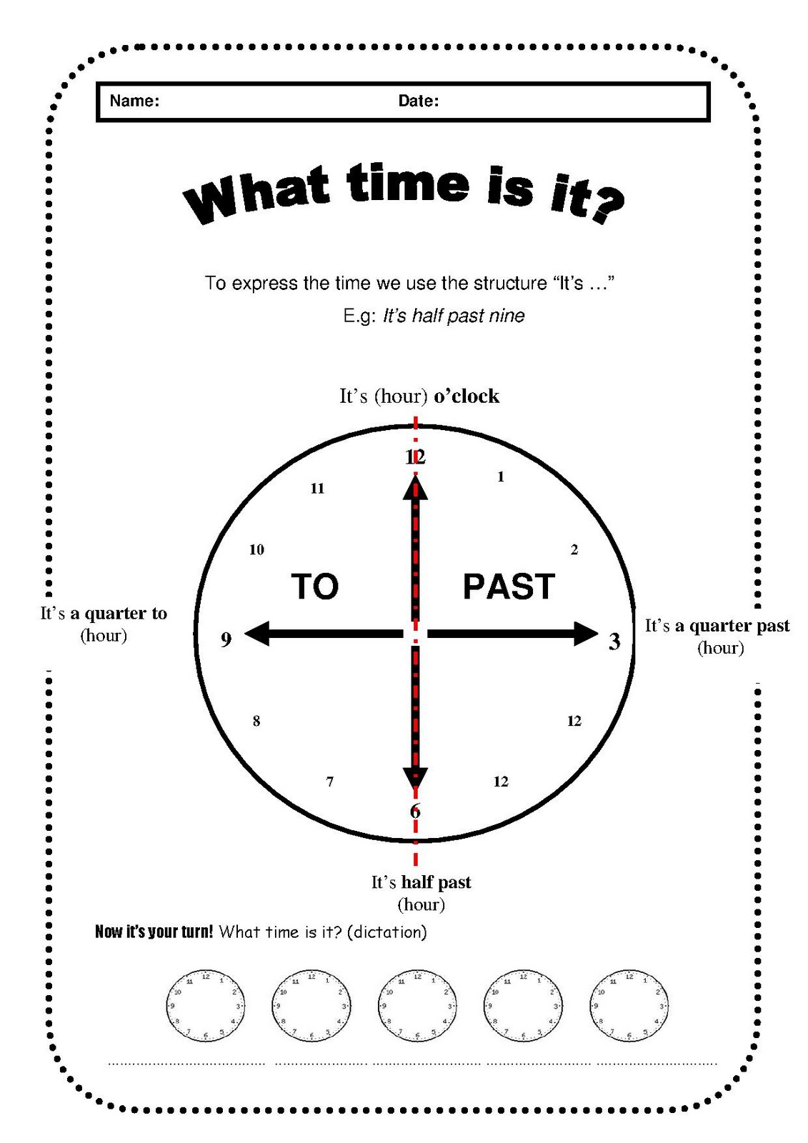 English For Children What Time Is It