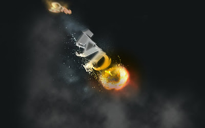 Flaming meteor text effect fotoshop tutorial