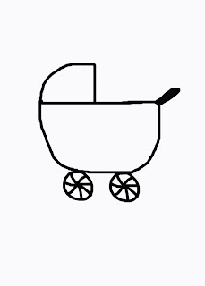 baby carriage coloring page - christmas train coloring pages printable