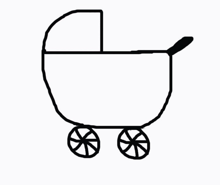 baby carriage coloring pages - photo #13