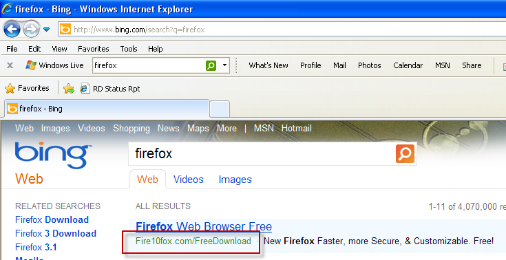 Bing advert peddles Firefox with Hotbar adware | The Legacy