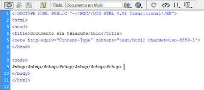 Espacios En Blanco Consecutivos En Dreamweaver 5incoaprendices - Espacio-en-blanco-html