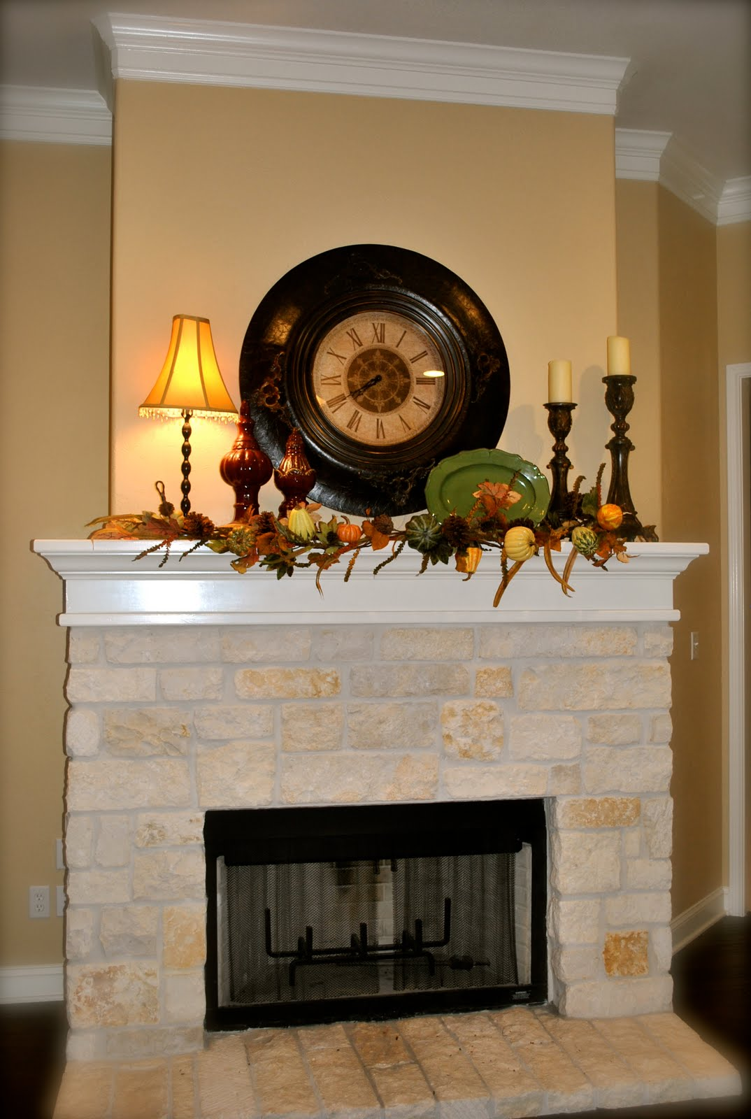 That Village House Fall Fireplace