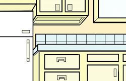 Easy Cartoon Kitchen Drawing