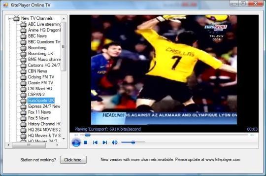 الاقمار و الدش: برنامج KitePlayer Online TV 1 0 3