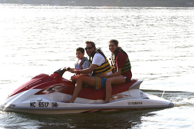 kids on jetski - Lake Gaston