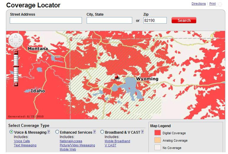 Cell Coverage in Yellowstone National Park on