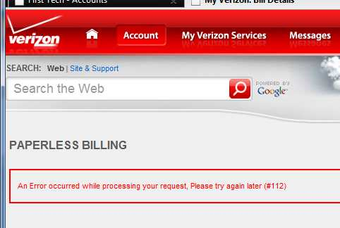 Why Can't I View My Verizon FiOS Bill Online?
