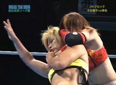 Kana - Kyoko Kimura - sleeper - womens wrestling