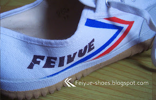 edb8e4d83d Feiyue s classical shoe designs feature 2 parallel arrows (in red and blue  colors
