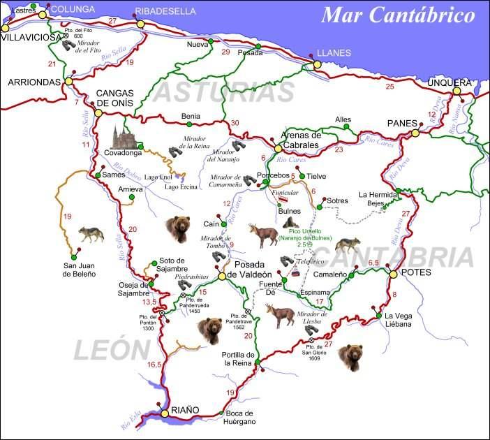 mapa picos da europa espanha EXPEDIÇÕES DA RAPAZIADA: Picos da Europa, Espanha mapa picos da europa espanha