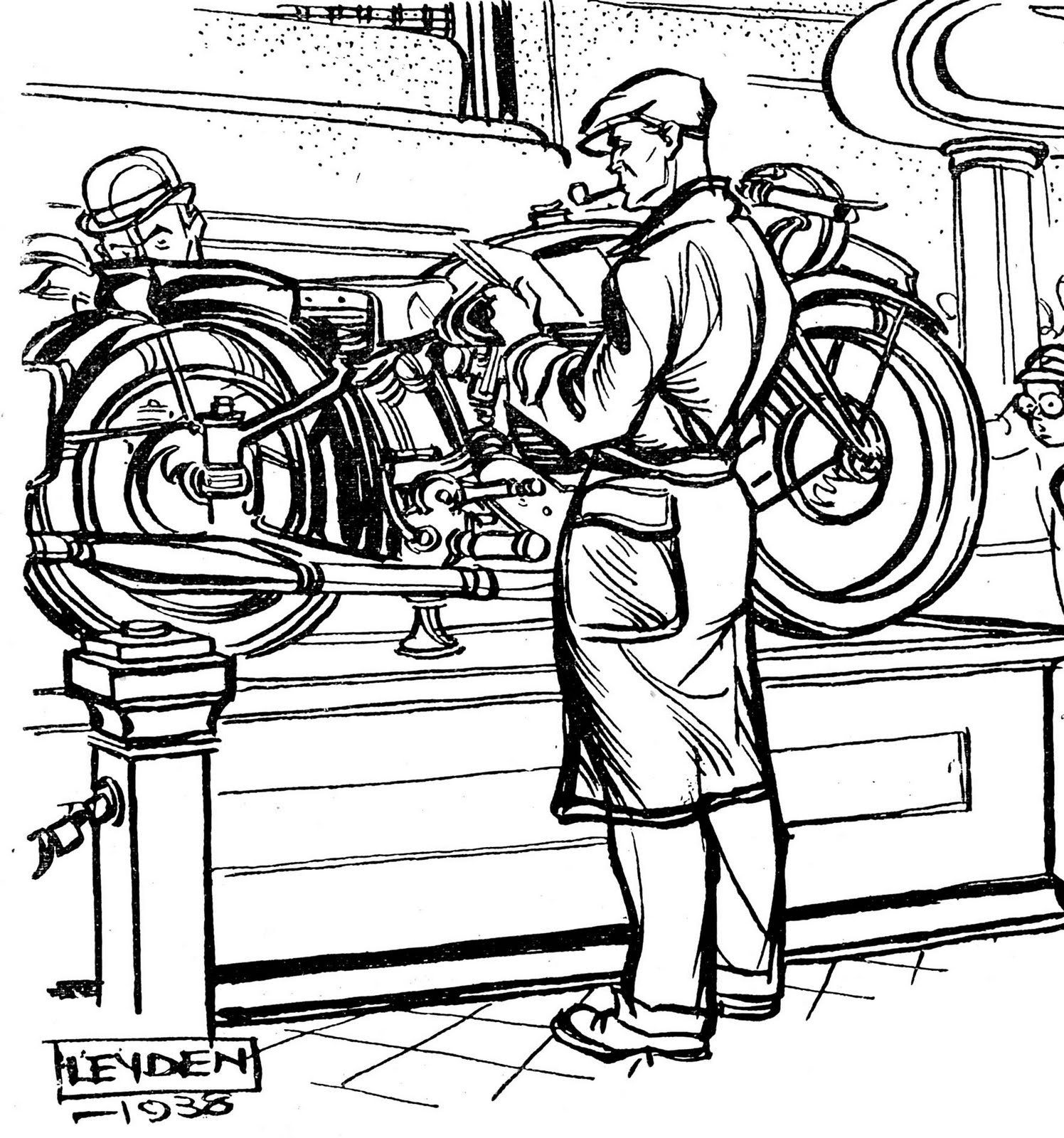 The Velobanjogent Pen And Ink Drawings From Motorcycle