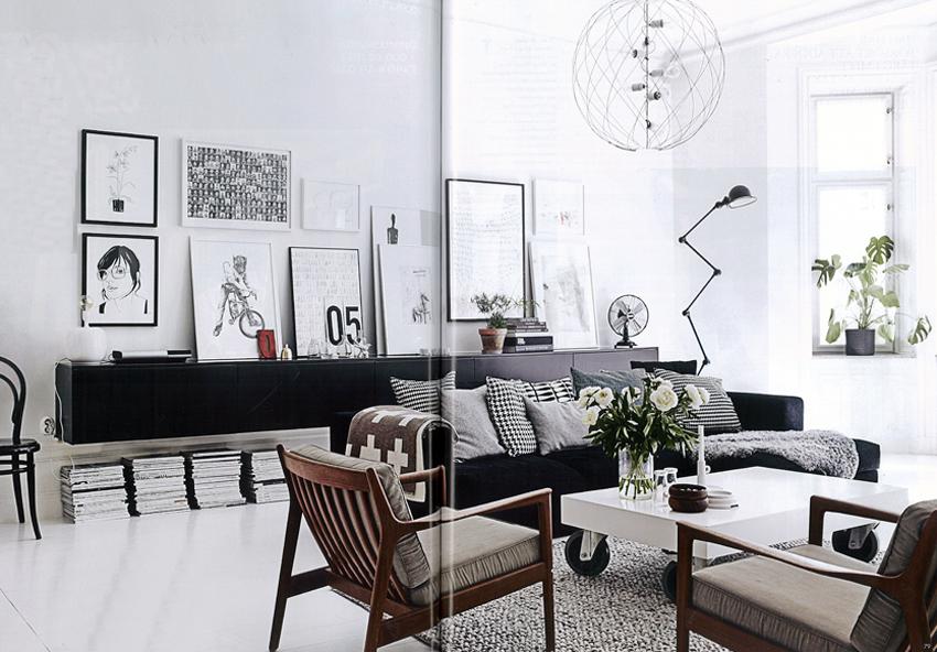 hänga tavlor ovanför soffa