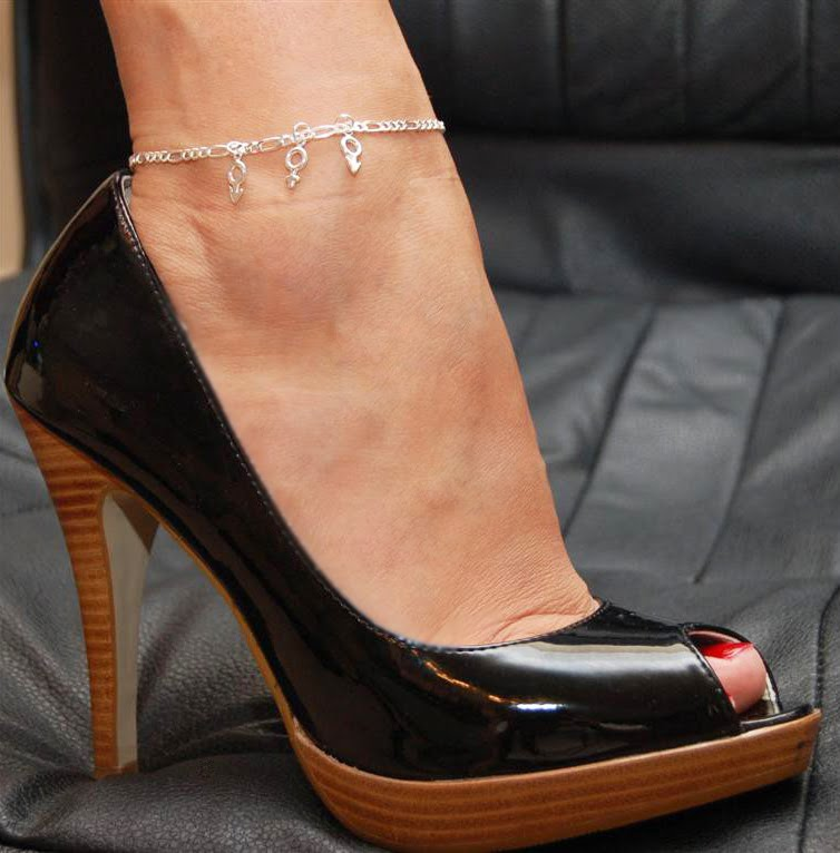 Anklet slut charms hand wife married