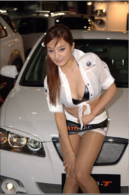 sexy korean car racing chic