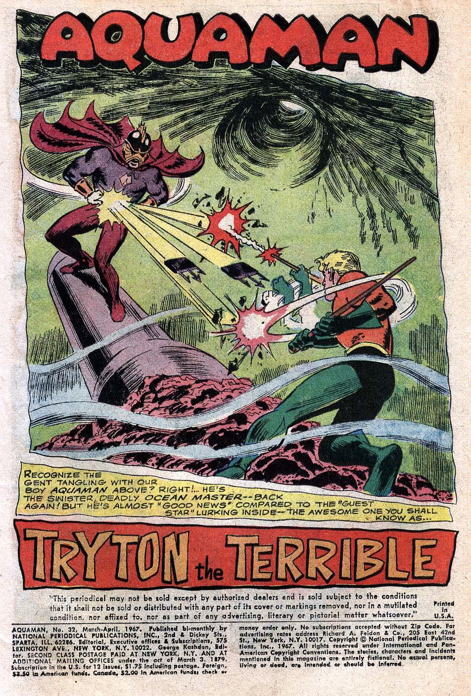 Read online Aquaman (1962) comic -  Issue #32 - 3