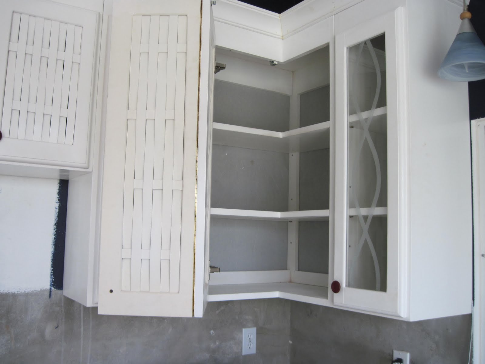 Corner Upper Kitchen Cabinet Unfinished Chairs Door Hinges  Doors