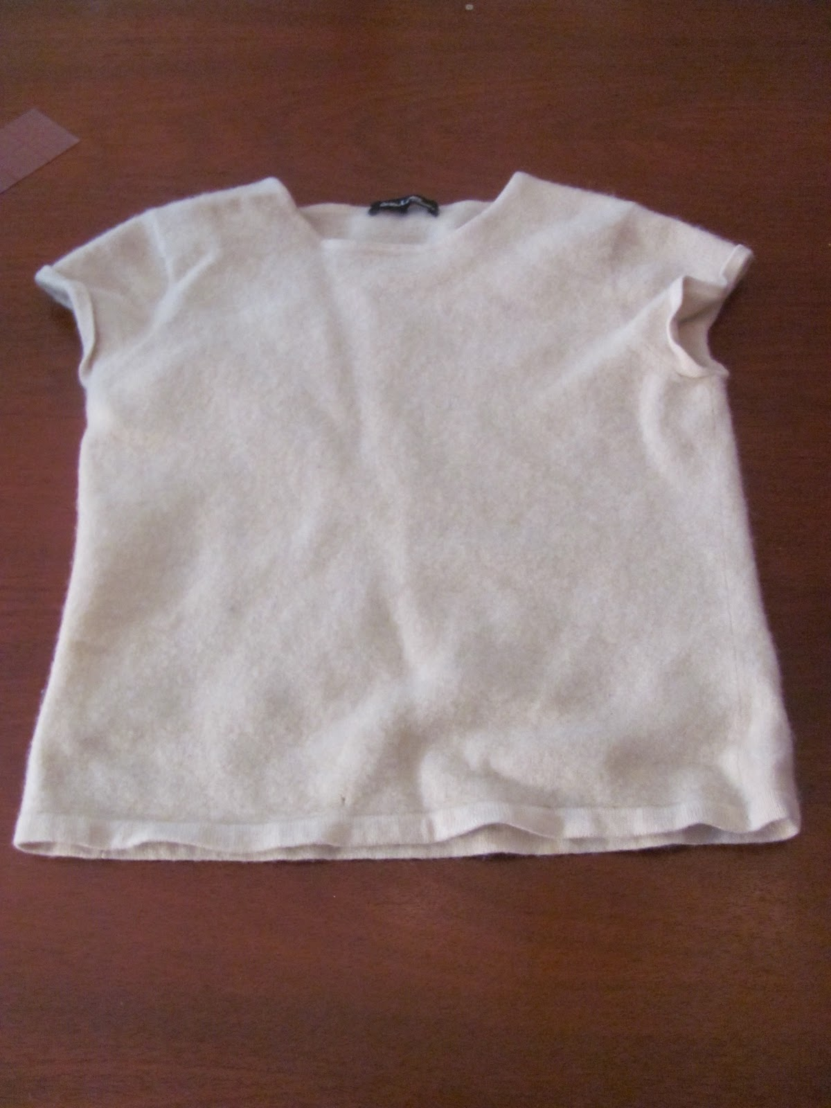 c3858a640 How to make a baby sweater from an adult sweater