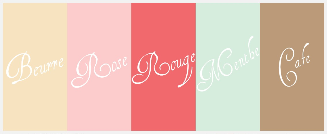 Color Palette French Pastry Themed Nursery