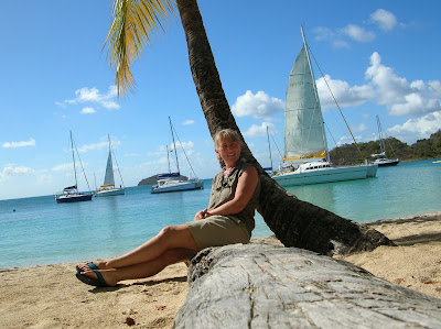 Saltwhistle Bay in Mayreau.  Photograph by Janie Robinson, Travel Writer