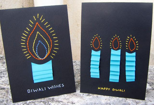 Black+Diwali+card+set