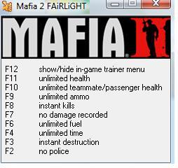 Mafia 2 (FREE)+30- TRAINER PLUS MEGATRAINER - Mafia 2 Forum