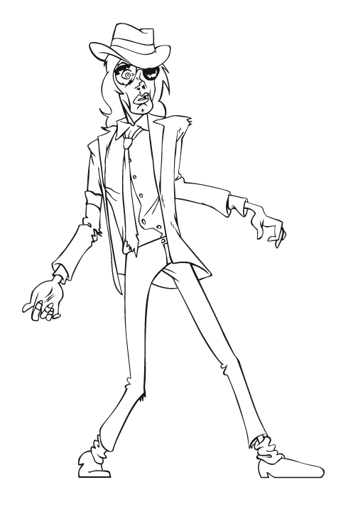 Michael Jackson Drawings Step By Sketch Coloring Page