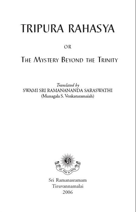 Tripura Rahasya - English Translation