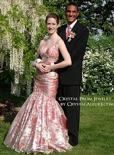 Emma and her date for Prom 2010 | Crystal Allure Beaded Jewelry