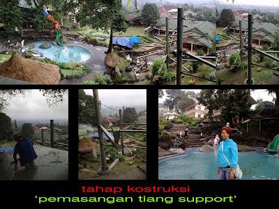 Proyek Water Slide Villa Tjokro Cisarua Puncak Bogor Fiberglass