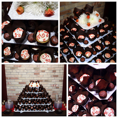 chocolate brown and burnt orange wedding cakes tiece of cake 12688