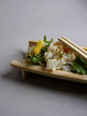 Cuisine asiatique : Salade de riz très fraîche à la mangue, coriandre et menthe 2