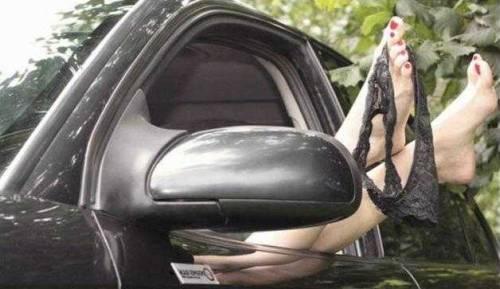 Real people having sex in car