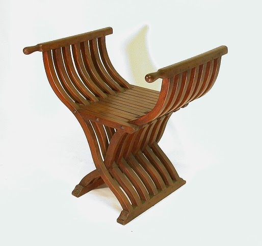 Best Glass: Antique roman chair