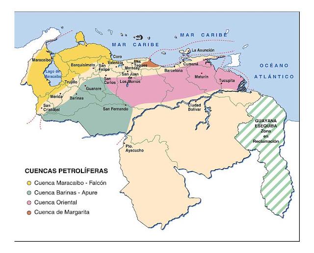 Cuencas Petrolíferas de Venezuela.