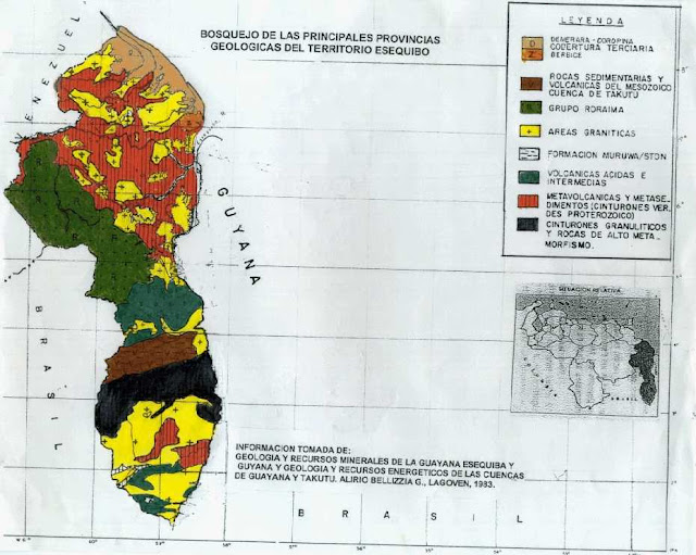 Mapa geológico de Guayana