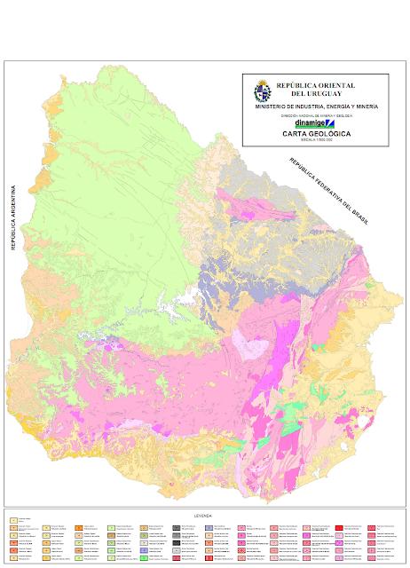 Mapa Geológico de Uruguay.