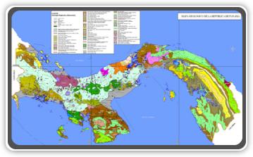 Mapa Geológico de Panamá.
