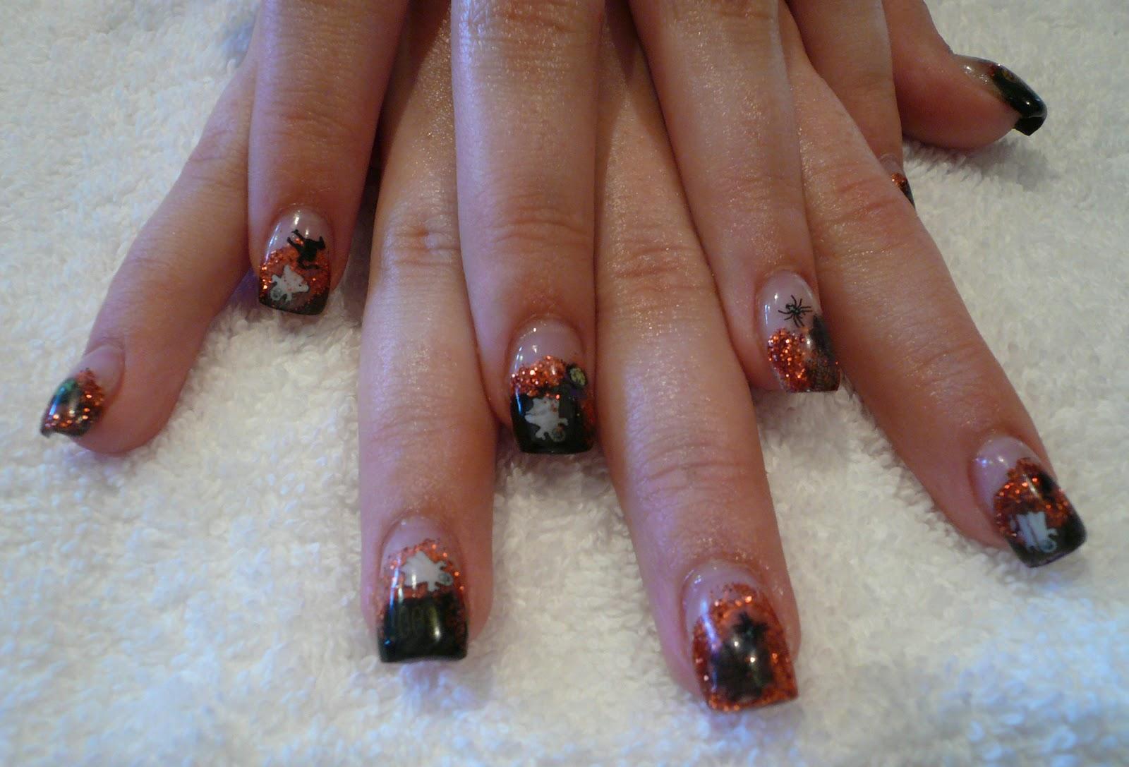 Panache Nail Studio: Halloween Fimo Nails!