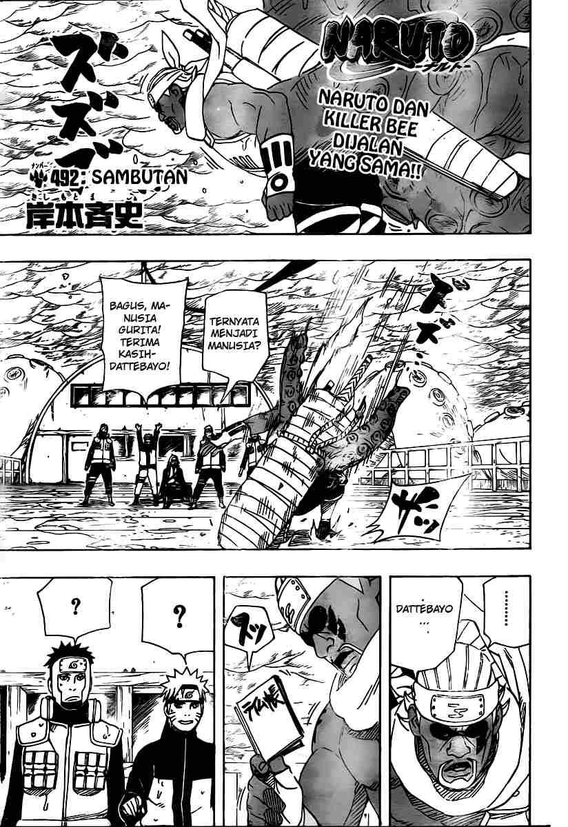 01 Naruto 492   Sambutan