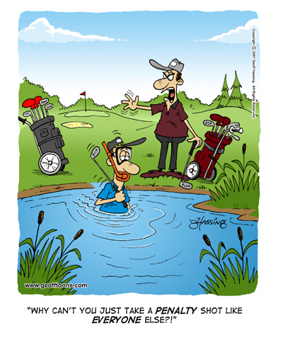 The cartoons of Geoff Hassing: Golf cartoons