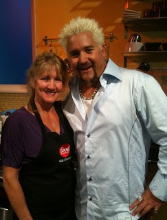 Gail on The Food Network with Guy Fiero, by pizzatherapy.com